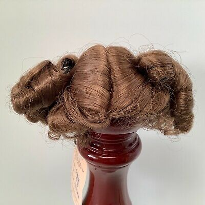 Hand Styled Doll Wig by Global Dolls Janey 11-12 Blonde Pony Tails Ribbons NOS