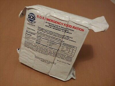 Emergency Survival Food Bars 3600 Calorie Meals. MRE. Disaster Land & Marine USA