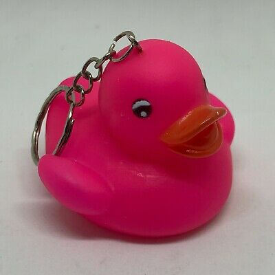 Rubber Duck 069. Pink Keyring Brand New