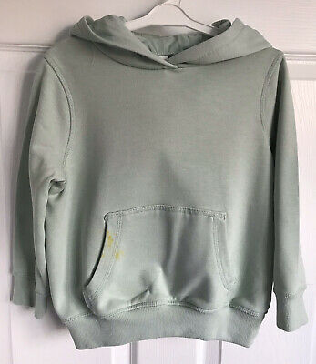 Girls Mint Green Next Long Sleeved Overhead Hooded 'Unicorn' Sweater - Age 5yrs