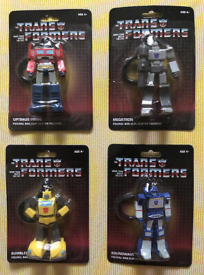 Transformers G1 Keychain Lot of 3 Bag Clips Optimus Prime Megatron Bumblebee