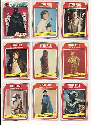 ESB bx10 1980 Star Wars The Empire Strikes Back Trading Cards // Choose