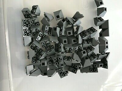 Lego 25 New Black Slope Curved 2 x 1 Inverted Sloped Pieces