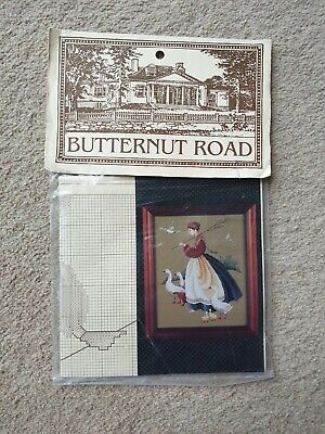Feathers /& Friends Butternut Road Designs by Marilyn Leavitt-Imblum Counted Cross Stitch PATTERN ONLY Geese Goslings Chicken Country Scene