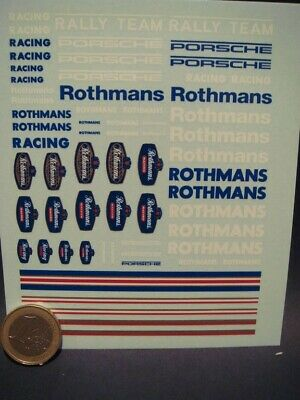 DECALS 1//43 ROTHMANS RACING RALLY TEAM AVEC FILETS T296