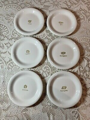 Williams Sonoma Wine Cheese Appetizer Canapé Plates 6 Set Of 6 Tag Box 10 01 Picclick Uk