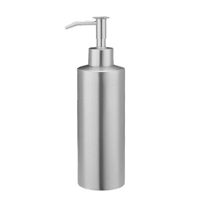Silver Countertop Soap Dispensers Lotion Bottle with Rust Proof Stainless Steel
