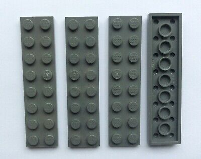 4 x LEGO 60479 Plaque NEUF NEW light bluish grey gray Plate 1x12 gris