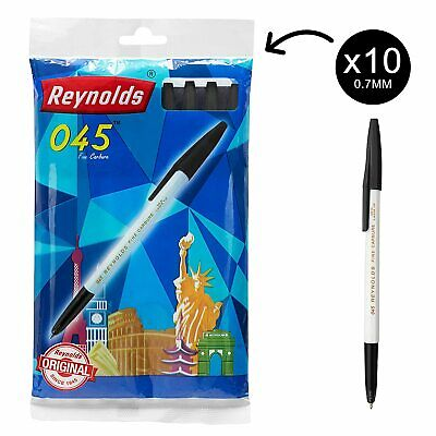 Set of 20 Reynolds0.45 fine carbure ball Point pens BLUE Free worldWide Shipping
