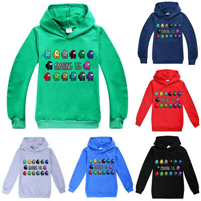 Among Us Game Unisex Boys Girls Hooded Pullover Hoodies Sweatshirt Jumper Tops