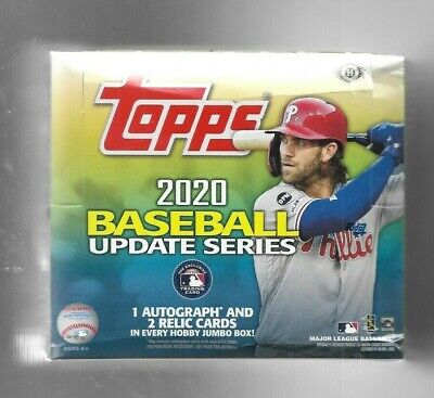 2020 Topps Update Series Baseball Sealed Hobby Hta Box  1 Auto & 1 Relic Per Box
