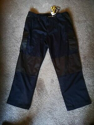 """mens navy blue work hospital NHS Warehouse NEW pleated  trousers Waist 32/"""" CP699"""