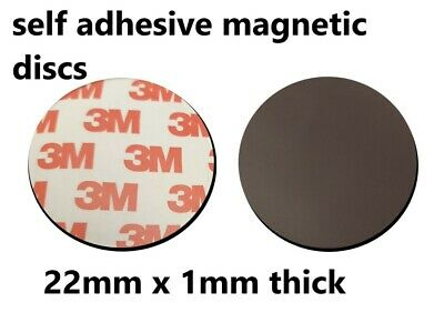 16mm dia x 2mm thick White Mild Steel Disc with 3M Self Adhesive Pack of 100