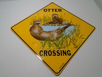 "OTTER Aluminum Crossing Sign 12"" on sides, 16"" on diagonal"