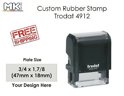 New Trodat 4912 Self Inking Rubber Stamp w Judges Copy