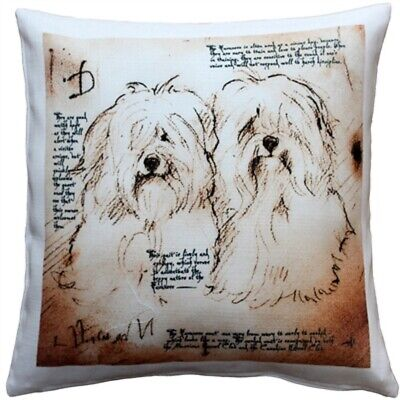 "Havanese Duo Throw Pillow Gorgeous 17"" x 17"" has washable cover"