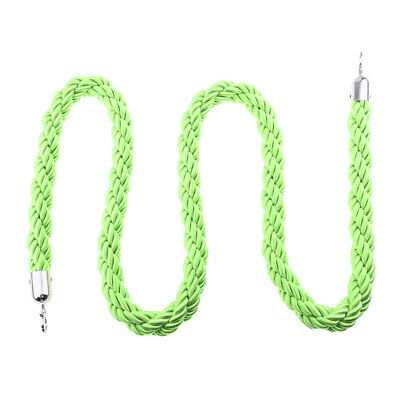 TOP QUALITY QUEUE BARRIER ROPE TWISTED NYLON 1.5m Green FOR BARRIER POSTS