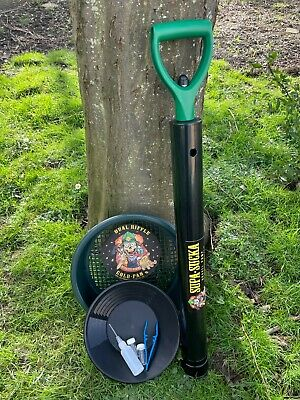 "Gold Panning Gravel Pump/Hand Dredge,10"" Gold Pan,Prospecting Kit,Must See"