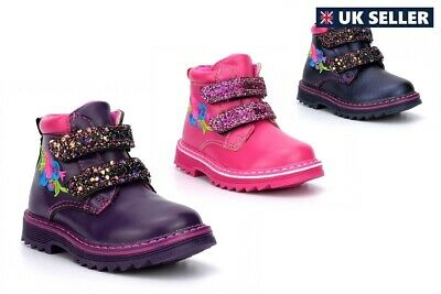 Girls Glitter Boots Girls Ankle Boots Girls Boots Touch Fastening Zip Purple