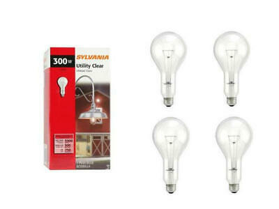 Sylvania 300PS25//CL 300W Incandescent Lamp Light Bulb 125-130V Med Base 6-Pack