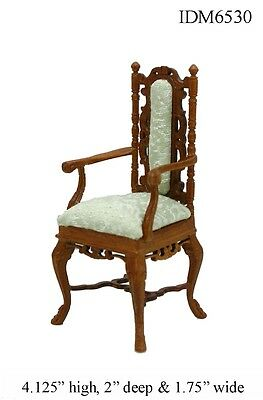 DOLLHOUSE MINIATURES Heirloom Collection Fancy Arm Chair 1:12 Scale