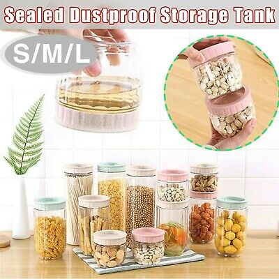 7.2cm OD Clear Strong PET Round Food Storage Container Jar Sealed Lid Surprise