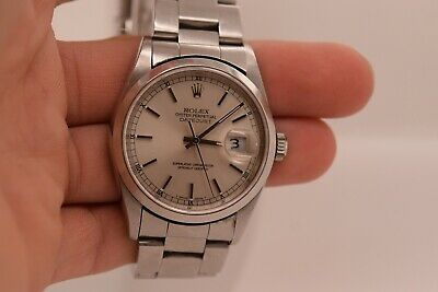 Rolex Stainless Steel Date Just 36mm Oyster 16200
