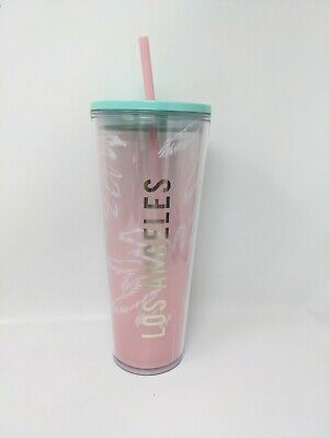 BRAND NEW STARBUCKS PALM TREES LOS ANGELES  VENTI COLD CUP TUMBLER Discontinued