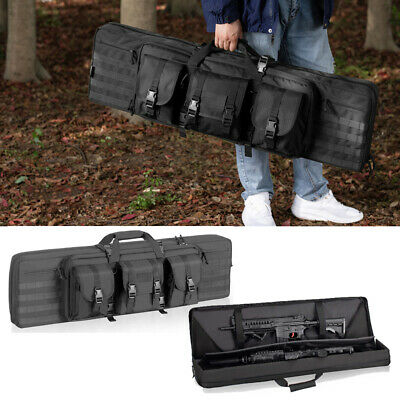 Tactical Double Padded Carbine Rifle Range Gun Case Bag Hunting Storage Backpack