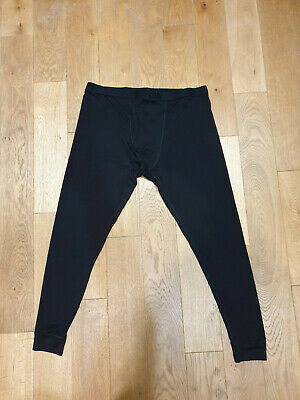 Marks And Spencer Mens Thermal Long Pant Base Layer Size XL X2 black