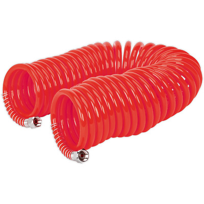 Sealey Coiled Air Line Hose 6mm 10m