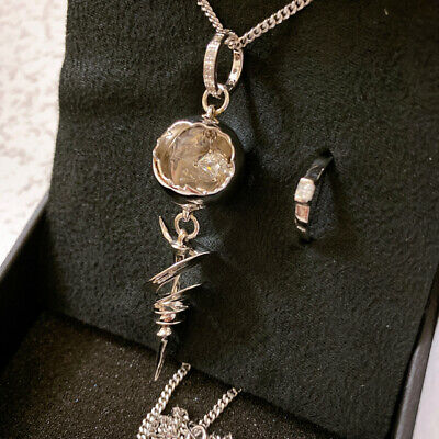 FF13 Cera Official Engagement Pendant Silver SQUARE ENIX USED
