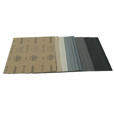 """9x11"""" SANDING SHEETS Wet/Dry Silicon Carbide Sandpaper Grits 80-7000 Grits"""