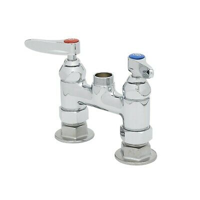 Deck Mount Faucet T&S Brass B-0326-LN-SC 4-Inch with Spring Check Cartridges