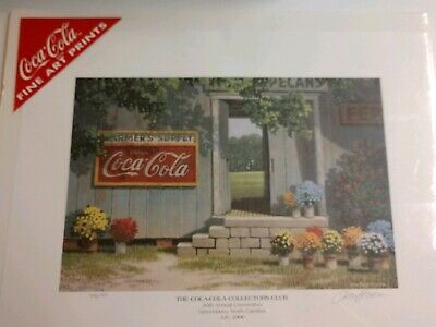Coca Cola Jim Harrison #494 Lithography Farmers Supply Authenticity Statement