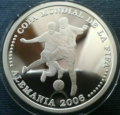 Paraguay, one Guarani 2003, silver proof World Football Cup Germany 2006