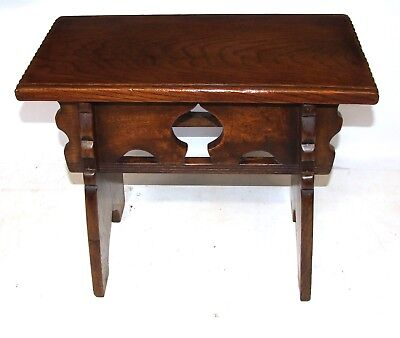 Antique Oak Joint Stool Oak Boarded Stool in the Manner of Rare Mid 16th Century