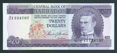 BARBADOS $20 Z1 REPLACEMENT P34a* ND(1973) RARE. Uncirculated!