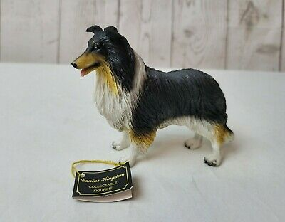 Canine Kingdom Collie Black/White/Red DF23B Figurine Sculpture With Tag New