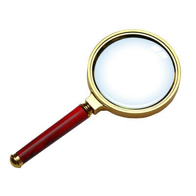 High Definition 10X Handheld  Magnifier Magnifying Glass Reading Jewelry LouH/'UK