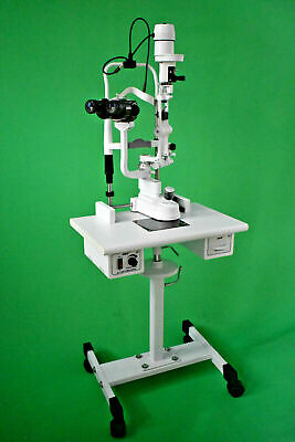 5 step Slit Lamp with manual table & 110 V power supply haag streit