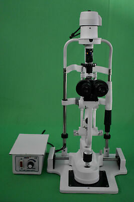 2 step slit lamp Microscope with power source and chin rest stand