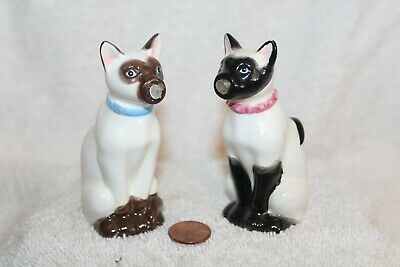 Westland Giftware Siamese Cat Salt Pepper Shakers Kissing Magnetic Noses