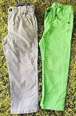 2 X Boys Trousers / Striped LaRedoute & Green H&M Jeans age 1.5 - 2 years
