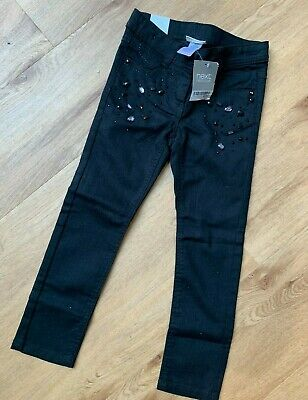 Next Girls Black Jeans Adjustable Waist Brand New with Tags Age 6 Years