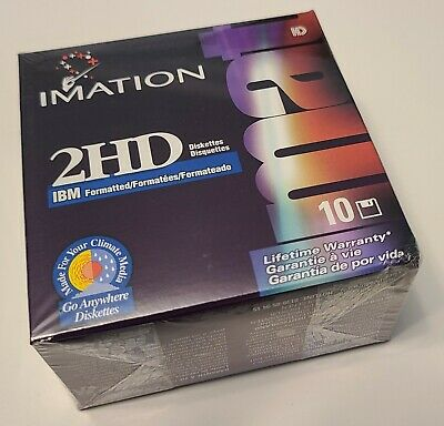 NEW imation 2HD MAC Formatted Diskettes, (Box of 10) Sealed