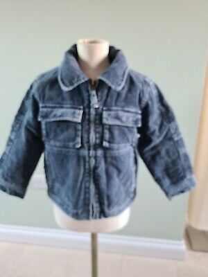 COOL LOOKING ~ Mini Boden ~  Boys Corduroy Jacket ~ jeans blue ~ age 3-4 ~ GUC