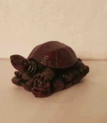 Beautiful Hand Carved Mahogany  Turtle