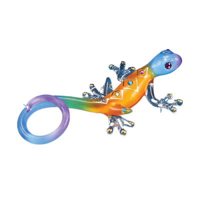"Glass Baron  Colorful ""Gecko Desert Diamond""  Accented with Swarovski Crystal"