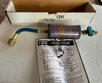 CPS Pro-set Oil Charge TLJ2 Injector For Refrigeration AC Systems